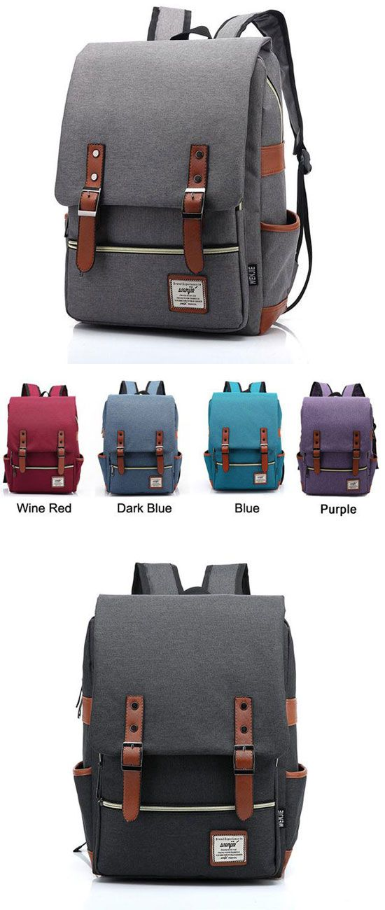 Which color do you like for this bag? Vintage Canvas Travel Backpack Leisure Backpack&Schoolbag #backpack #school #college #bag #women #student