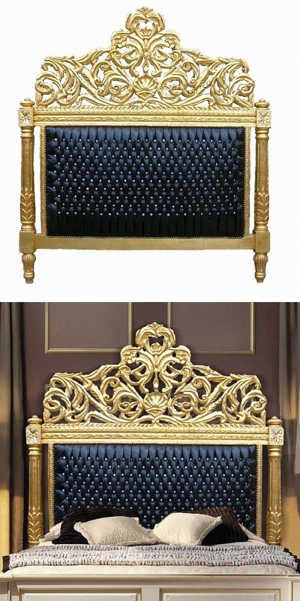 Tête de lit baroque dorée  http://www.homelisty.com/tete-de-lit-baroque/