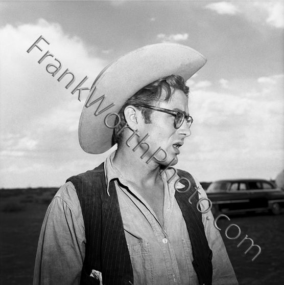 James Dean Right Profile in Cowboy Hat Set of Giant 1955
