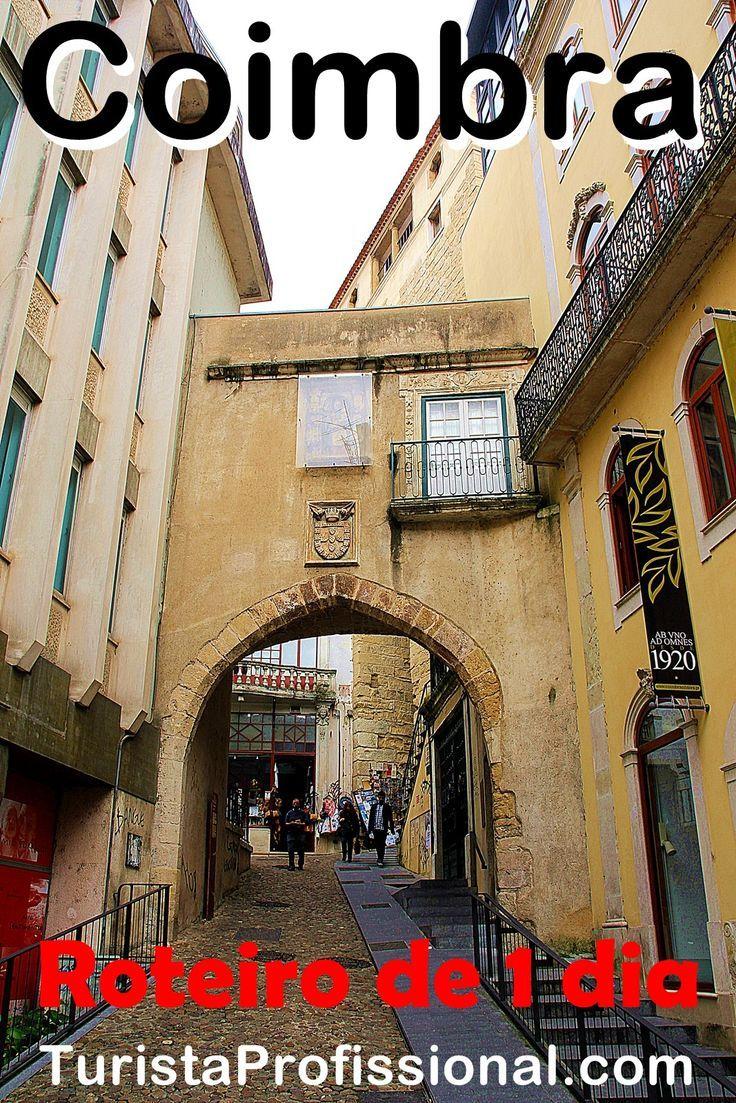 Roteiro de 1 dia em Coimbra, a cidade universitária de Portugal. Passeio por Coimbra conhecendo as suas melhores atrações turísticas.