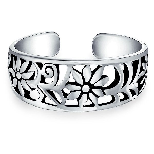 Bling Jewelry Power UR Flower Ring Body Jewelry ($9.99) ❤ liked on Polyvore featuring jewelry, rings, body jewelry, grey, toe-rings, silver flower jewelry, silver jewellery, blossom jewelry and grey jewelry