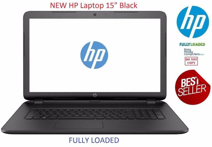 "NEW HP Laptop Computer 15.6"" Windows 10 Webcam WiFi 500GB 4GB (FULLY LOADED) How would you like your next laptop to be fully loaded and easy to use? A laptop that requires no setup at all. Why waste time trying to figure out how to setup a laptop when we have done the work for you!. EasyPeasyComputers.com has taken the time to configure this laptop for home, school or work. We want to make your life easier!  Best cheap laptops for sale deals @easypeasycomputers…"