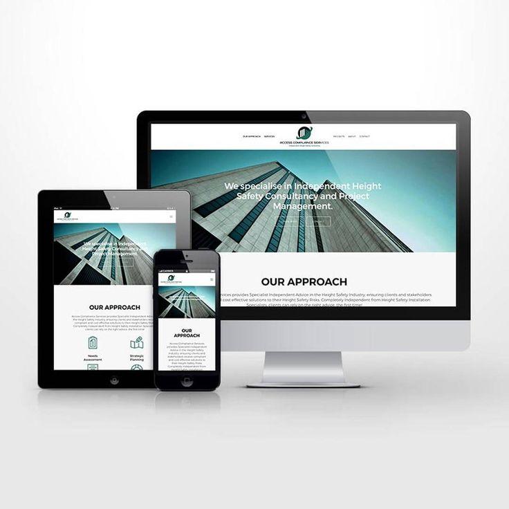 Responsive website UI for height safety business. #kore #website #responsive #design #wordpress