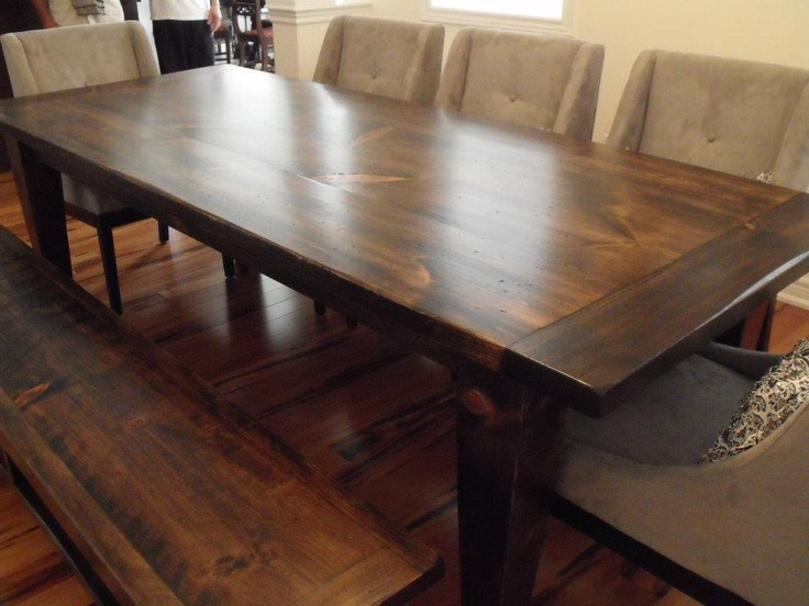 Harvest Table - color, smooth, variations in stain