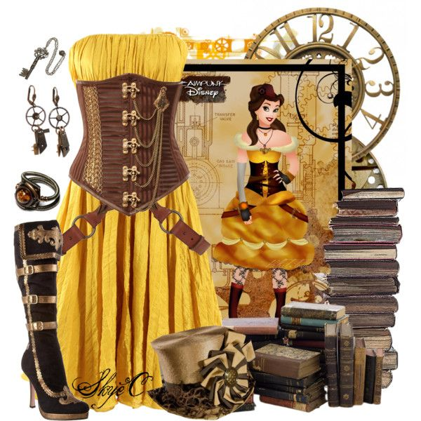 Belle - Steampunk - Disney's Beauty and the Beast, created by rubytyra on Polyvore