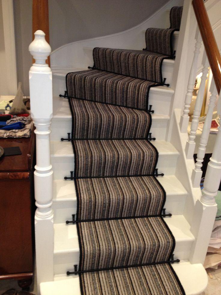 Superior Minimalist Striped Runners For Stairs With Nice Dark Bronze Carpet Runner Stair  Rod Ideas~ Popular Home Interior Decoration