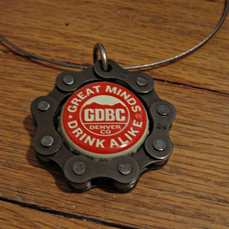 Bottle Cap Projects | Bike And Beer Pendant ∙ Creation by Rae on Cut Out + Keep