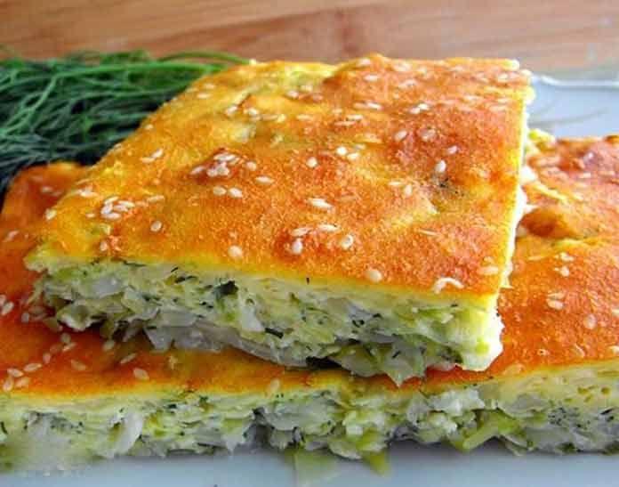 Быстрый капустный пирог рецепт с фото