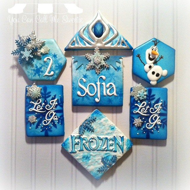 Disney Frozen Winter Wonderland cookies