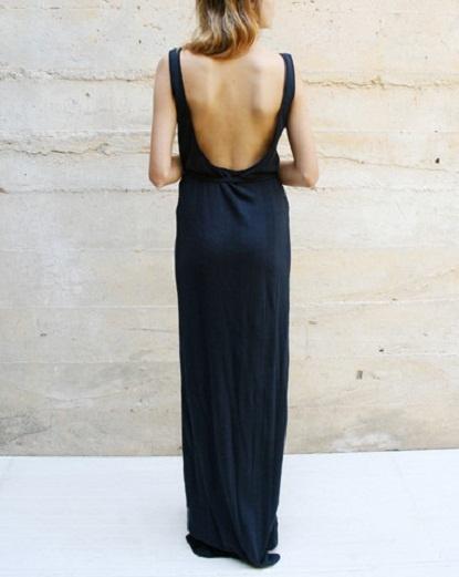 low cut backLong Black Dresses, Black Maxis, Long Dresses, Summer Dresses, Open Back Dresses, Backless Dresses, Low Back Dresses, Maxis Dresses, The Dresses