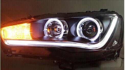 Mitsubishi Lancer Led Headlight With Angle Eye 2008 2009 2010 2011 2012 2013' $425.00