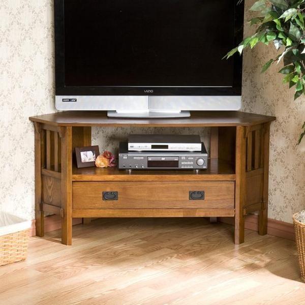 Harper Blvd Chenton Oak Corner TV Stand | Overstock.com Shopping - The Best Deals on Entertainment Centers