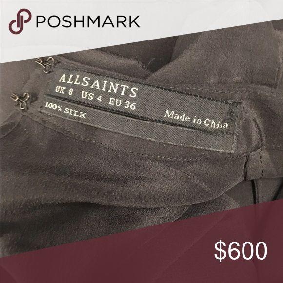 Allsaints dress Black silk dress All Saints Dresses