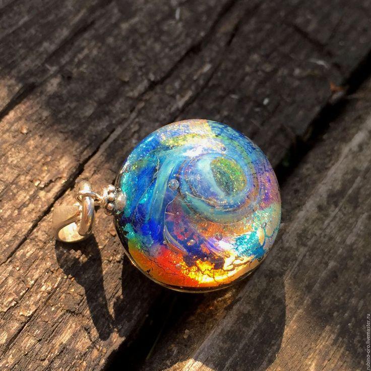Купить Видимый Спектр... Кулон. - космос, кулон, галактика, лемпворк, авторские украшения, подарок