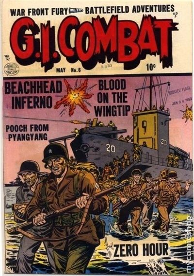 G I Combat #6 (May 1953) Pencil art by Dick Dillin, inks: Chuck Cuidera