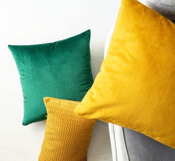 Miodowo Zielony Zestaw Poduszek Dekoracyjnych Toss Cushions Pillows Throw Pillows