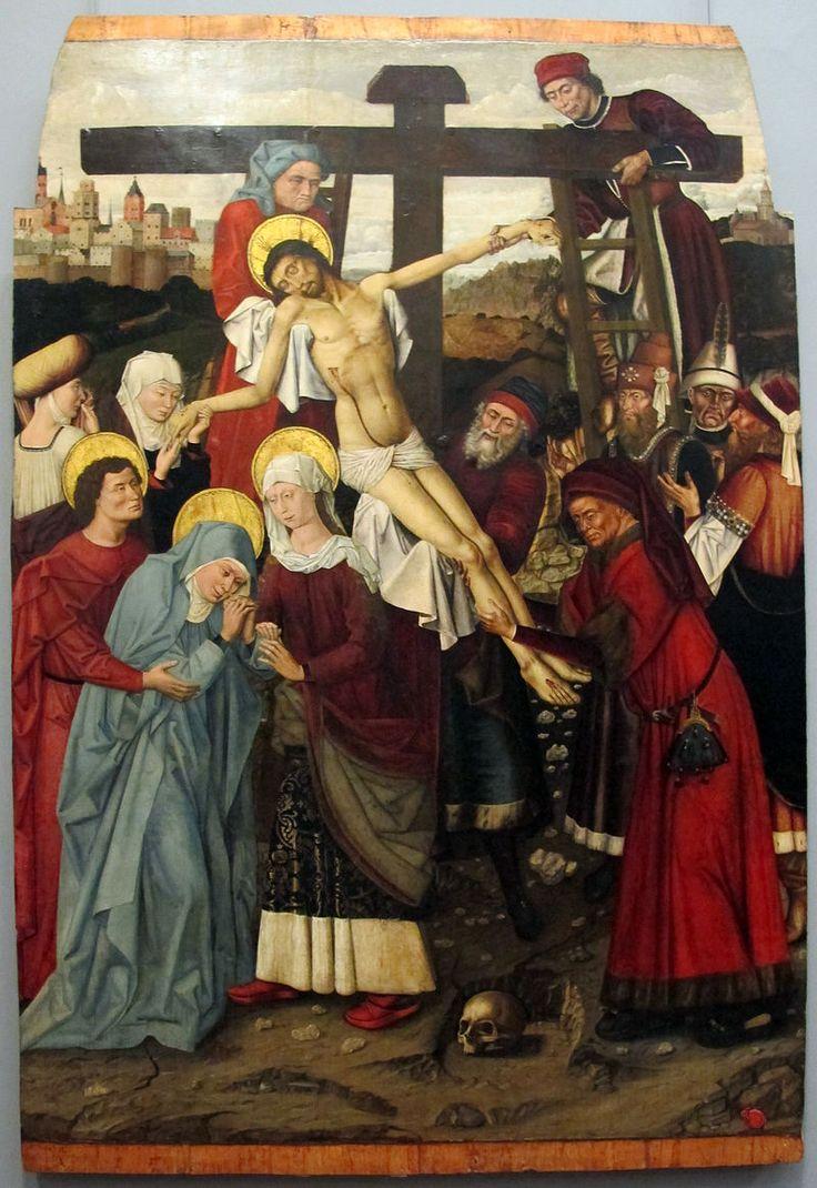 Galleria Napoletana (Museo di Capodimonte). Colantonio, deposizione, 1455-60, da s. domenico maggiore.JPG