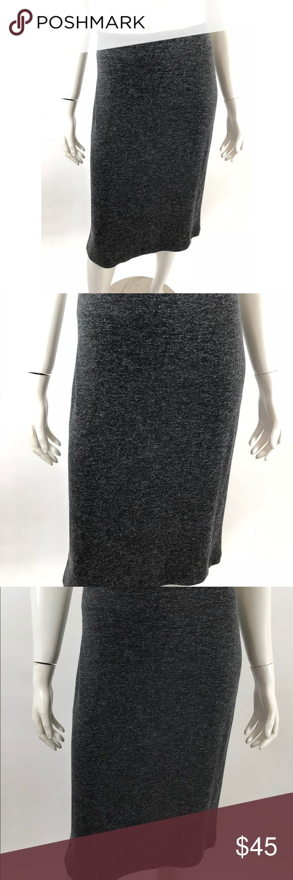Calvin Klein Pencil Skirt Size Large Black Gray Calvin Klein Womens Pencil Skirt Size Large Black Gray Stretch Knee Length NEW. Measurements: In inches Waist:34 Length:26 Calvin Klein Skirts Pencil