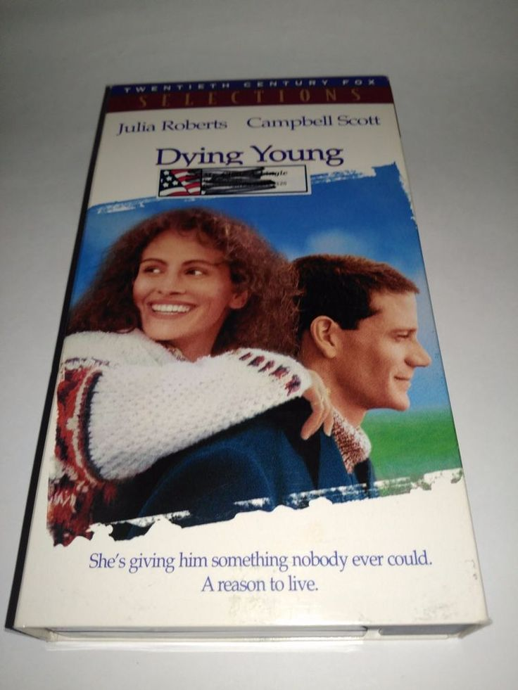 Dying Young (VHS, 1992) Julia Roberts, Joel Schumacher VCR Tape Movie