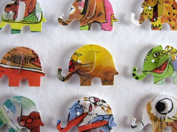 Love the idea of this--- recycling a beloved children's book-- frog belly rat bone elephants?!? I think- Yes!!!!