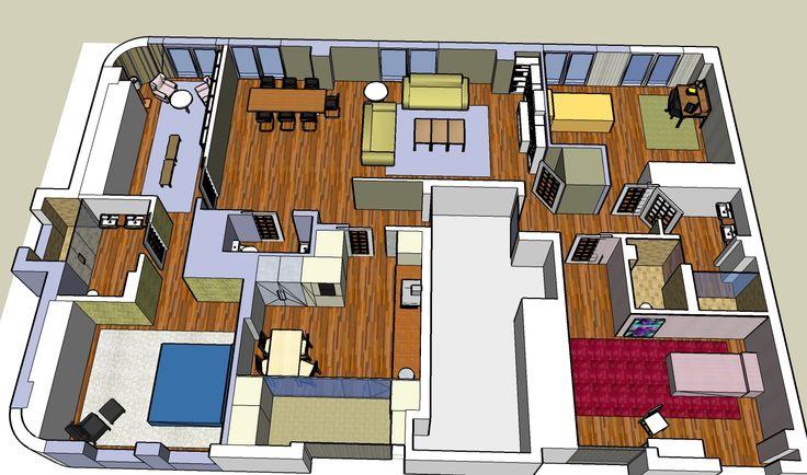 173 best images about planos de casa on pinterest house for Sala de estar dibujo