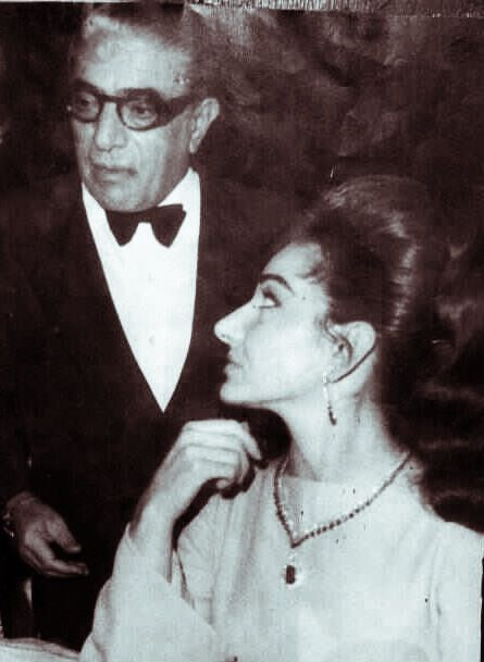 Aristotle Onassis and Maria Callas