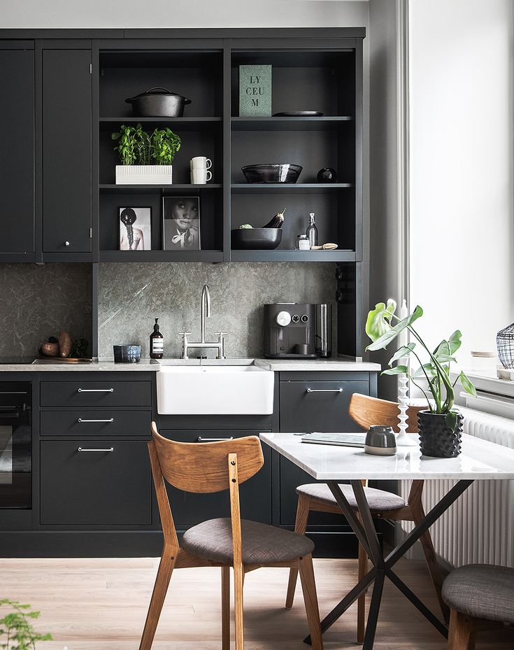 Small living space with a great kitchen - via Coco Lapine Design