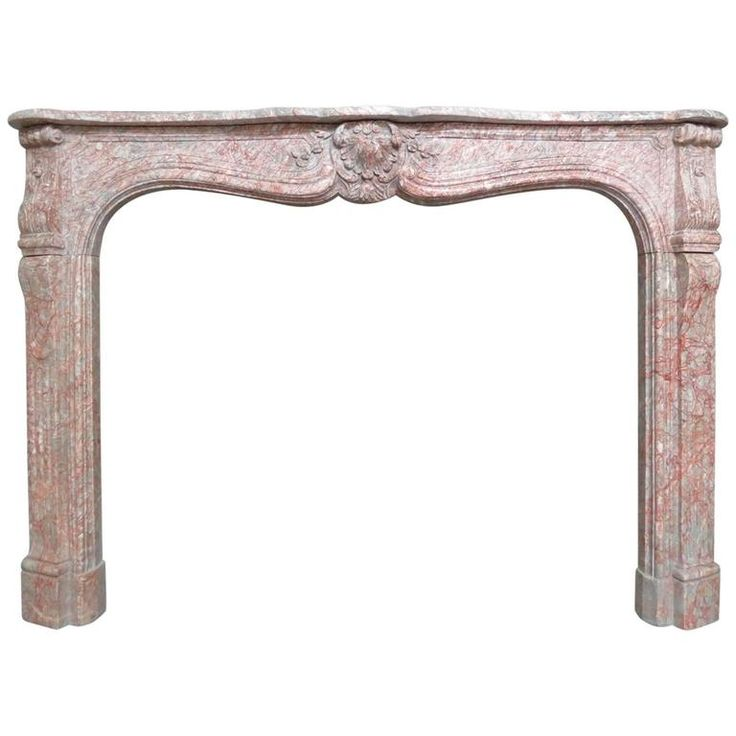 1stdibs Marble 19Th Century Style Louis Xv French Fireplace / Mantel