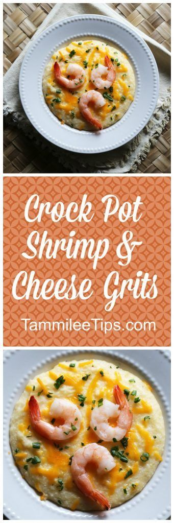 Slow Cooker Crock Pot Shrimp and Cheese Grits Recipe
