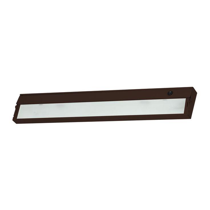 Alico Zeeline 3 Lamp Xenon Cabinet Light In Bronze With Diffused Glass