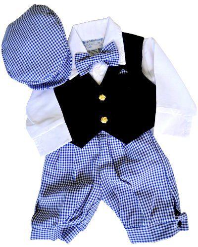 Boys Dress Knickers 5 Pc Outfit With Velvet Vest Newsboy