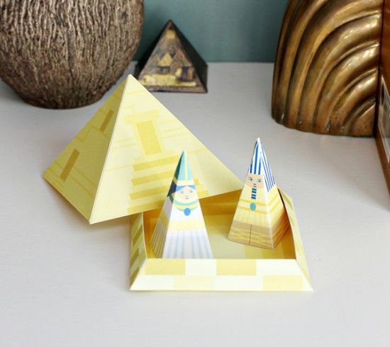 Egyptian Crafts for Kids - Hieroglyphs, Mummy, and King Tut Printables - DIY Egypt Pyramid playset