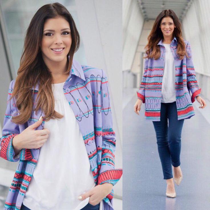 Klaudia Halejcio. #spring #newcollection #coat #geometric #ss17 #klaudia #halejcio #actress