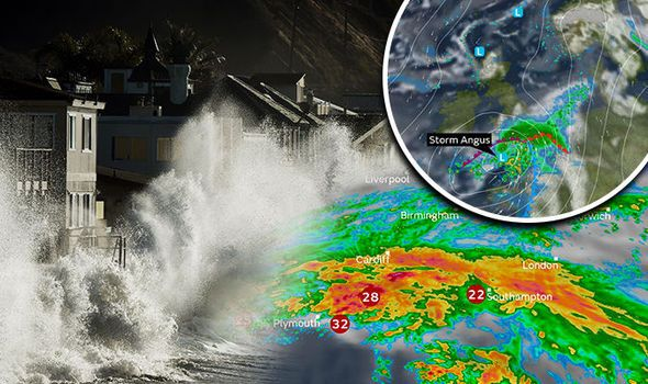 UK weather warning: Storm Angus set to BLAST Britain with 80mph gales