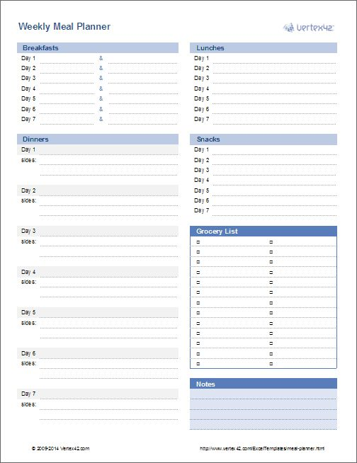 Best  Weekly Menu Template Ideas On   Menu Planners