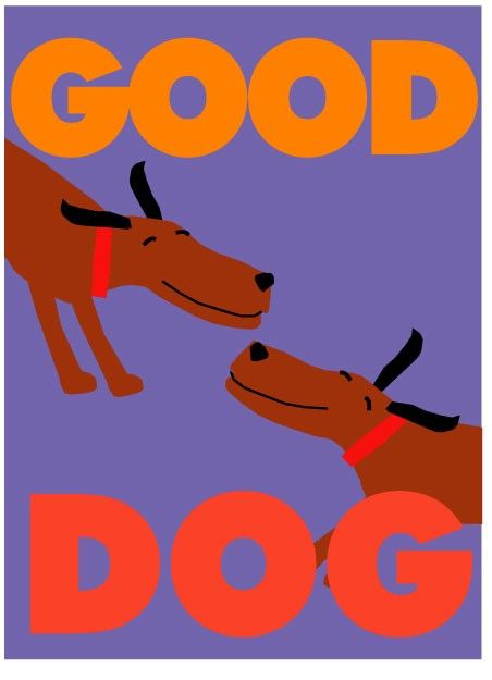 good dog print original illustration 8 x 10
