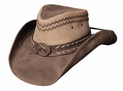 f8e88104eb8 Bullhide Women s Hideout Leather Hat Brown Large
