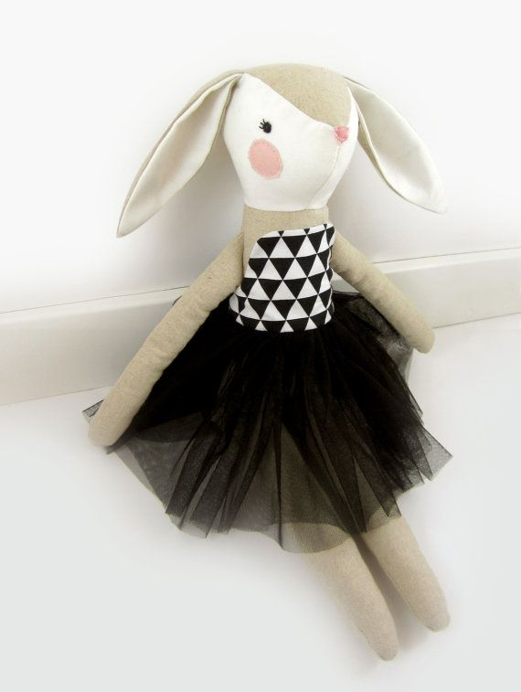 Le Lapin - Bunny soft toy, Easter Bunny, Bunny Soft Toy Doll.  Beautiful decorative bunny doll, is entirely handmade from cotton and polyester