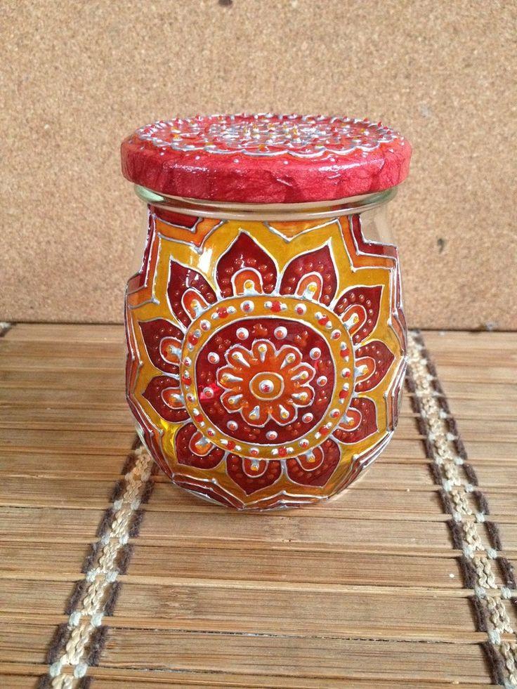 Jar. Flower - peinture sur verre. | Hand painted glass