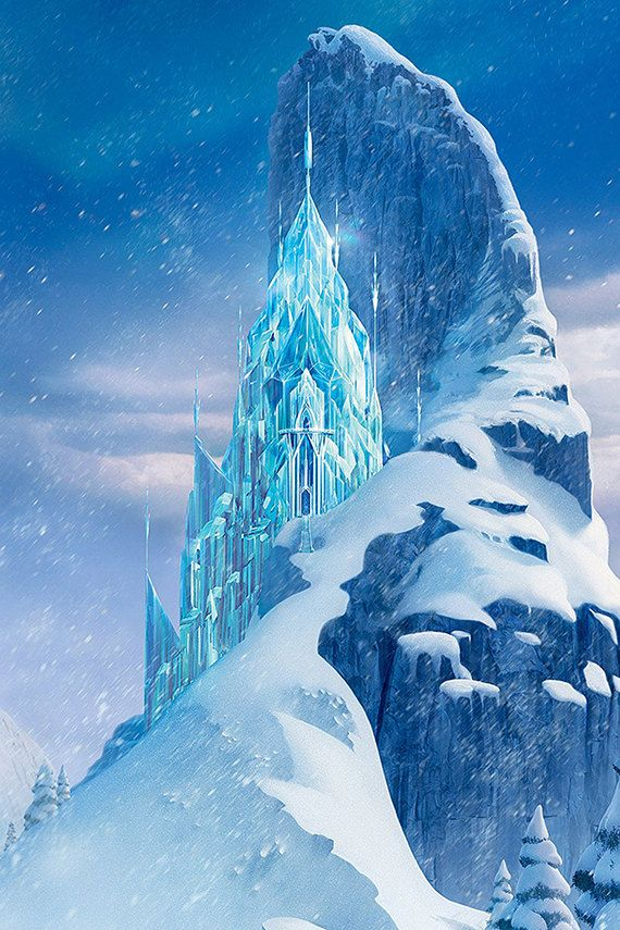 Animated Snow Wallpaper Disney Frozen Personalize Custom Printed Backdrop