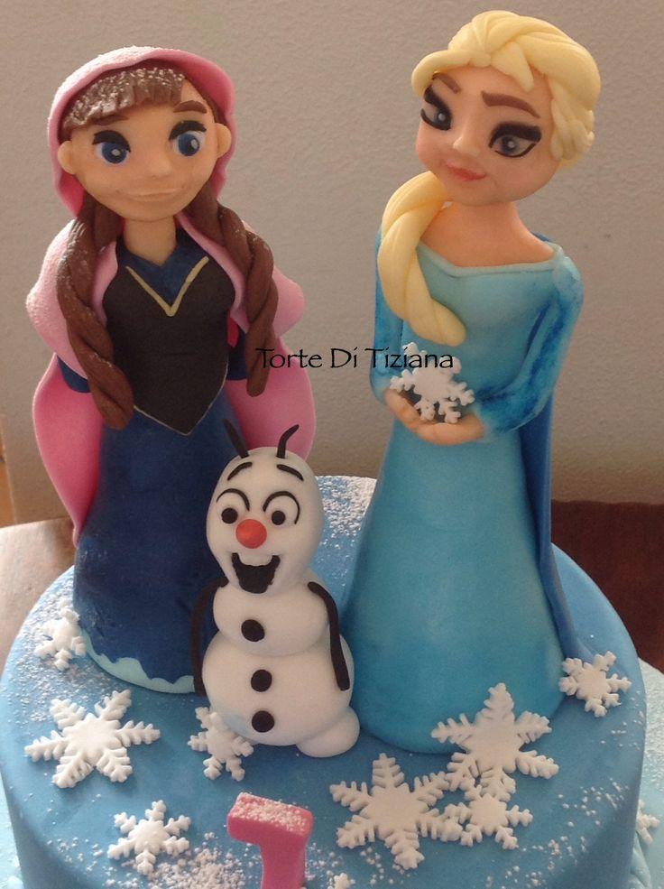 Cake frozen e elsa