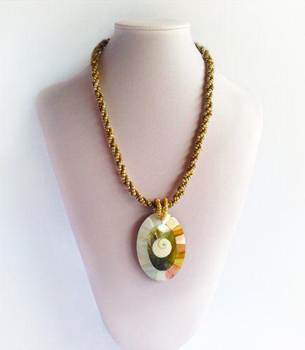 Citra - Beautiful Shell Pendant | Indigo Heart - Fair Trade Fashion  A$34.95