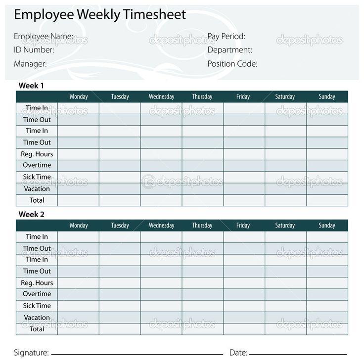 Free Printable Timesheet Templates Timesheet Template Free Excel