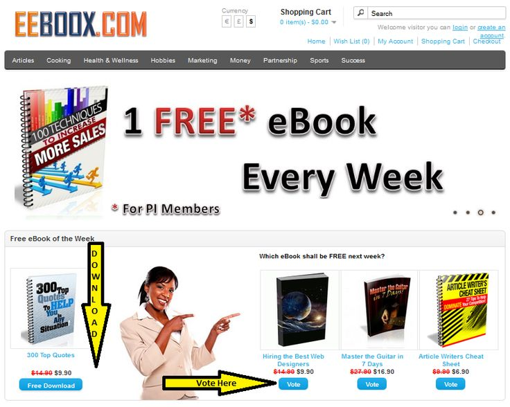You can find the best ebook deals on internet at #EEBOOX!  ONE FREE ebook every week for the members!