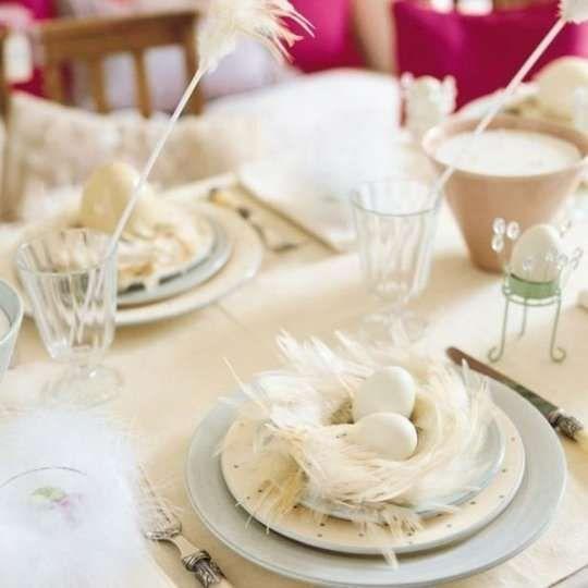 Decorazioni pasquali in bianco - Tavola di Pasqua Blank Easter decorations - Easter table