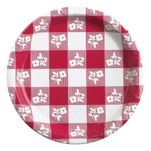 Add some fun to your summer sun! These Red Gingham Lunch Plates are ready to dish up some good eats at the picnic in the park. These adorable plates are covered in a red gingham check pattern, with a