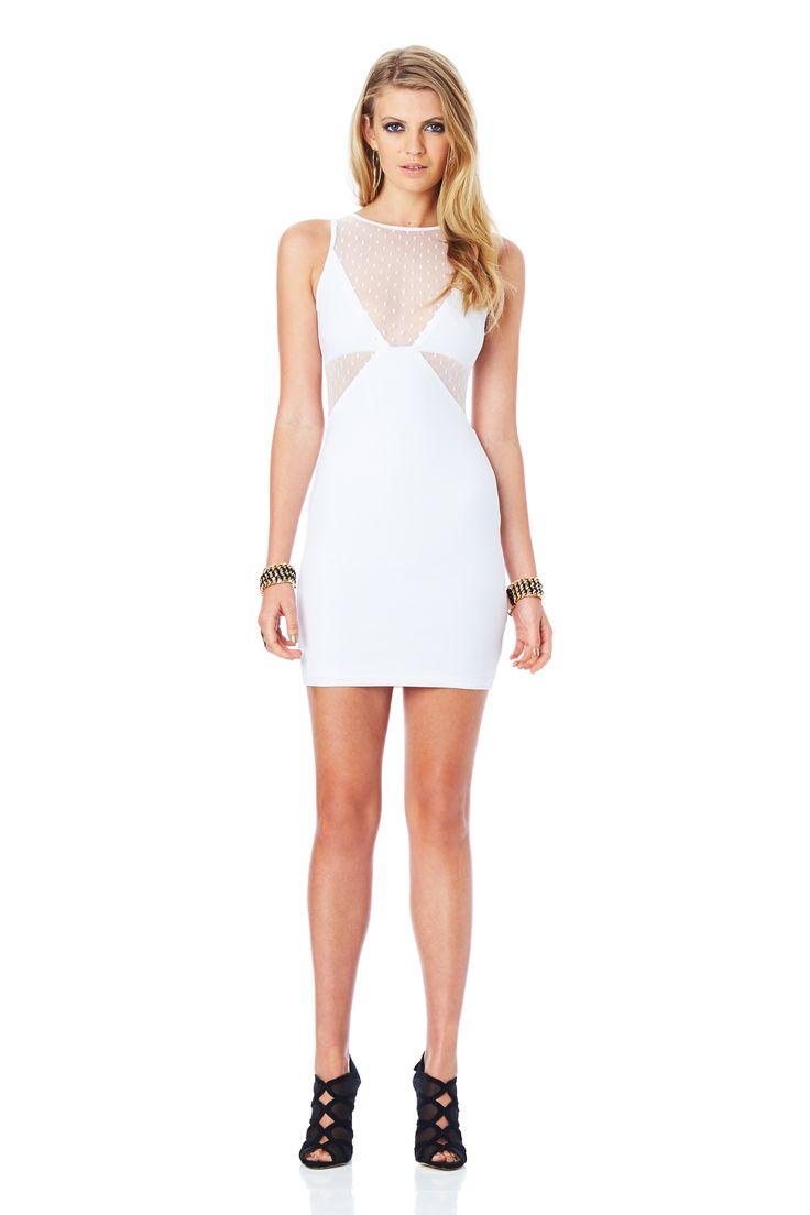 WINK SHIFT DRESS (White) #nookie#nw14