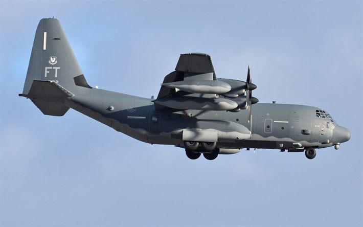Download imagens Lockheed HC-130, Combat King II, aeronaves militares, Força Aérea dos EUA, EUA, HC-130º-J, Lockheed
