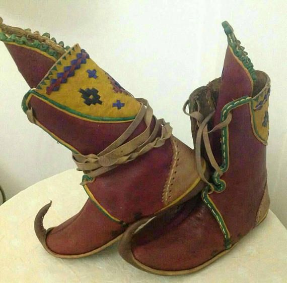 9f31ccc40dc10 Medieval Boots,Historical Shoes, Ottoman Shoe,Turkish Yemeni,Fairy ...