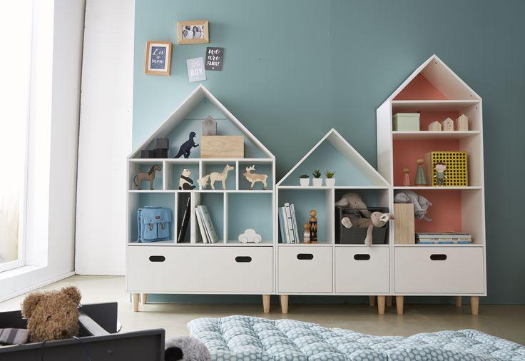 VERTBAUDET - bibliothèque, meuble à cases ... Créez des espaces de rangements à leur hauteur dans la chambre de vos enfants .